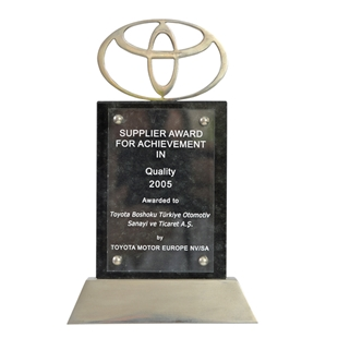Supplier Award For Achievement in Quality 2005  Toyota Motor Europe