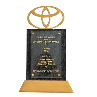 Supplier Award For Superior Performance in Quality  Toyota Motor Europe  2010