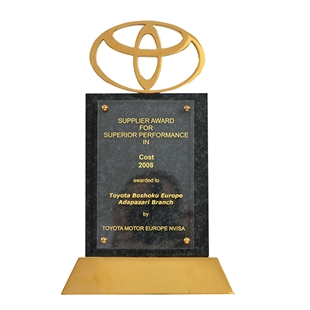 Supplier Award For Superior Performance in Cost Toyota Motor Europe 2008