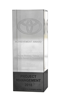 Supplier Award For Achievement in Project Management Toyota Motor Europe 2019